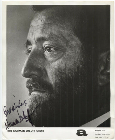 Norman Luboff Signed 8x10 Photo Autographed Signature