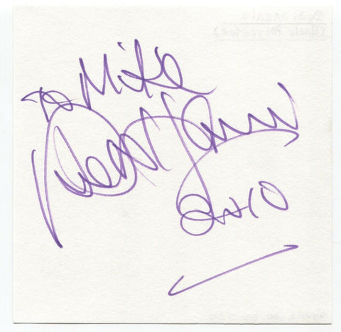 "Bob Harris Signed Album Page Autographed Signature ""To Mike"" Radio Presenter"