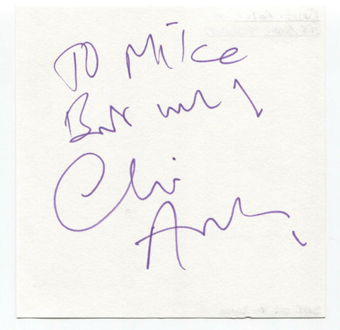 "Clive Anderson Signed Album Page Autographed Signature ""To Mike"" Radio Presenter"