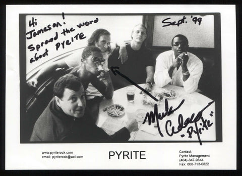 Mark Adelman Pyrite Band Signed Photo Vintage Autographed Signature Photograph