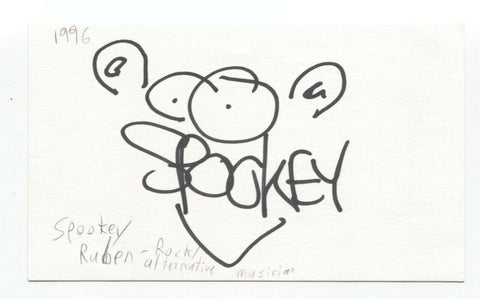 Spookey Ruben Signed 3x5 Index Card Autographed Signature