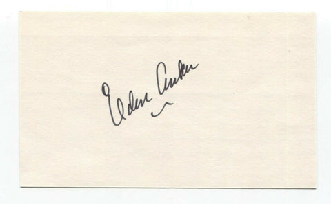 Elden Auker Signed 3x5 Index Card Baseball Autographed Signature
