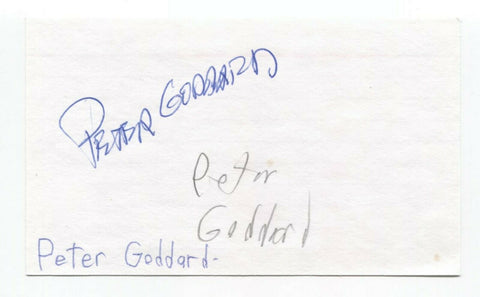 Peter Goddard Signed 3x5 Index Card Autographed Signature Director Writer