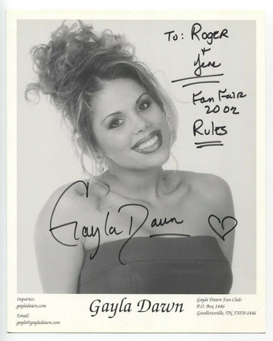 Gayla Dawn Signed 8x10 Inch Photo Autographed Signature Country Singer