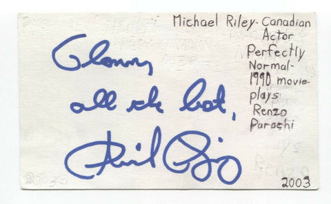 Michael Riley Signed 3x5 Index Card Autographed Signature Actor