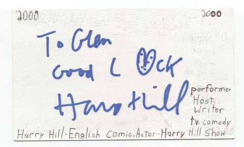 Harry Hill Signed 3x5 Index Card Autographed Signature Actor Comedian Host