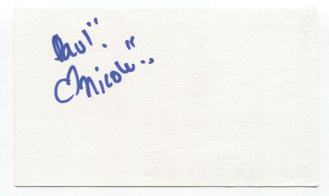 Scratching Post - Nicole Hughes Signed 3x5 Index Card Autographed Signature Band