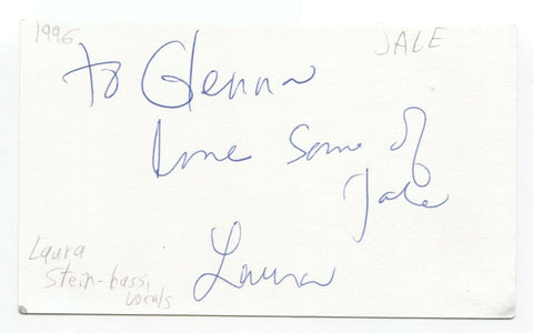 Jale - Laura Stein Signed 3x5 Index Card Autographed Signature