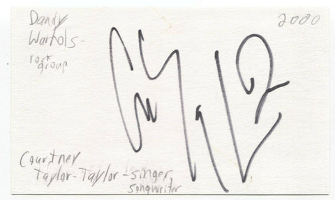 The Dandy Warhols - Courtney Taylor Taylor Signed 3x5 Index Card Autographed