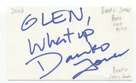 Danko Jones Signed 3x5 Index Card Autographed Signature Band