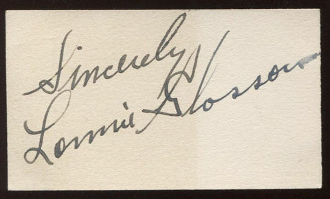Lonnie Glosson Signed Card Harmonica Singer Autographed Authentic Signature