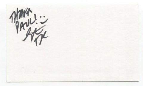 Taproot - Stephen Richards Signed 3x5 Index Card Autographed Signature Band