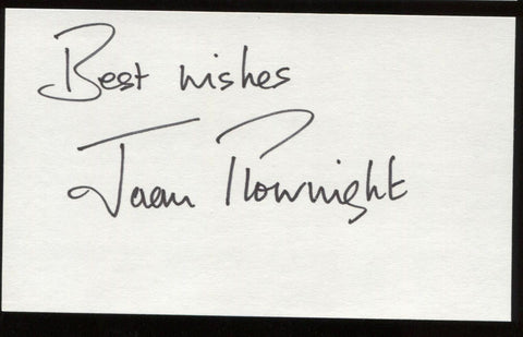 Joan Plowright Signed Index Card Signature Autographed AUTO
