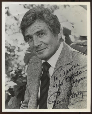Gene Barry Signed 8x10 Inch Photo Vintage Autographed The War of the Worlds