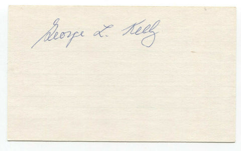 George Kelly Signed 3x5 Index Card Baseball Hall of Fame Autographed HOF