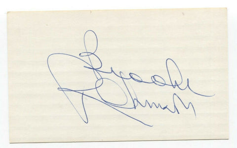 Brooks Robinson Signed 3x5 Index Card Baseball Hall of Fame Autographed HOF