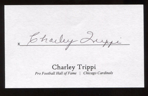 Charley Trippi Signed 3x5 Index Card Signature Autographed Football Hall of Fame
