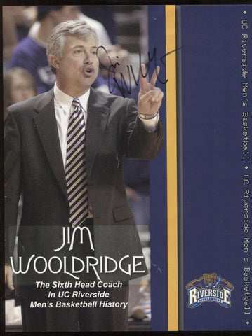 Jim Wooldridge Signed 8.5 x 11 Photo College NCAA Basketball Coach Autographed