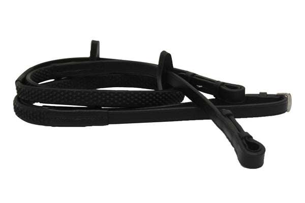Horseware Rubber Grip Reins - Black | HorseFit NZ