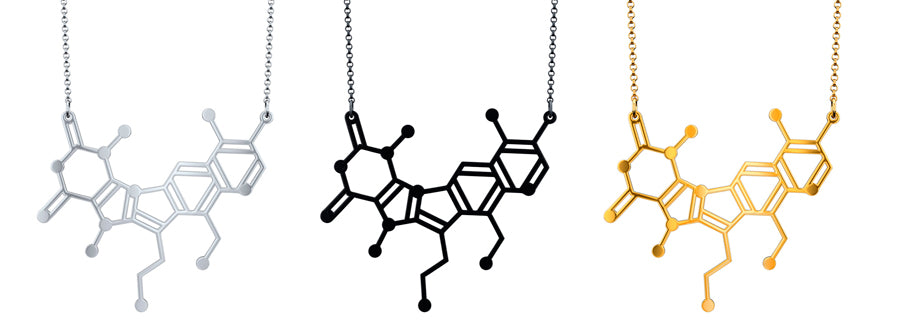 Aroha Silhouettes Satisfaction Molecule Necklace