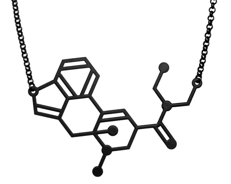 Aroha Silhouettes Men's LSD Molecule Necklace