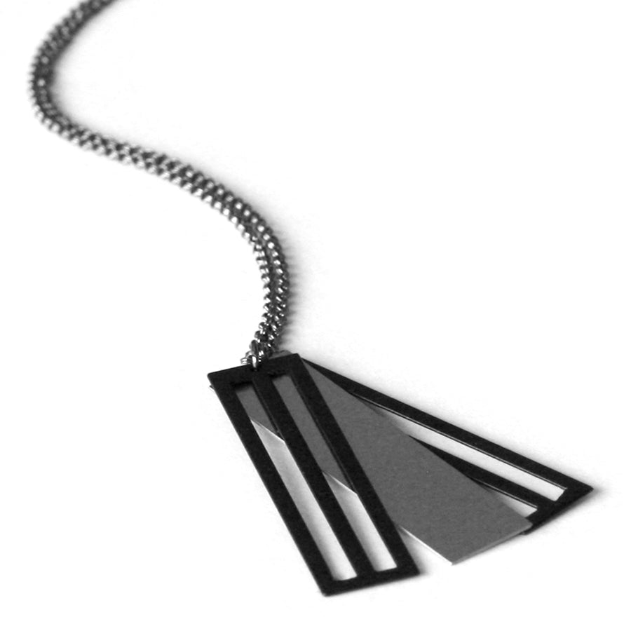 The Steel Sandwich Necklace by Aroha Silhouettes
