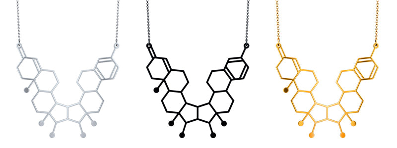 Aroha Silhouettes Gender Molecule Necklace