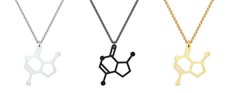 Catnip Molecule Necklace by Aroha Silhouettes