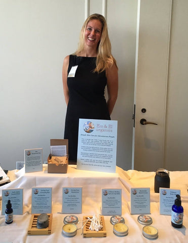 Emily begins to introduce our new line at smaller events | Em & El Organics