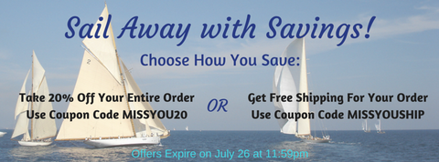 Sail Away with Savings Special Offer from Em & El Organics | Em & El Organics