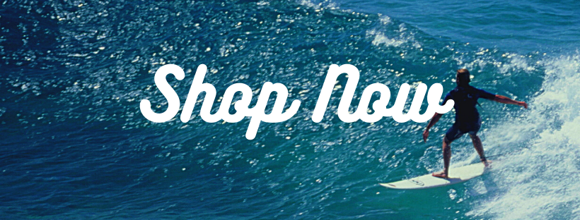 Shop Now Button with white letters and a surfer background | Em & El Organics
