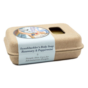 Box of Organic Palm Oil Free Luxurious Body Soap in lavender-cedarwood, rosemary-peppermint, tea tree-lemongrass and unscented