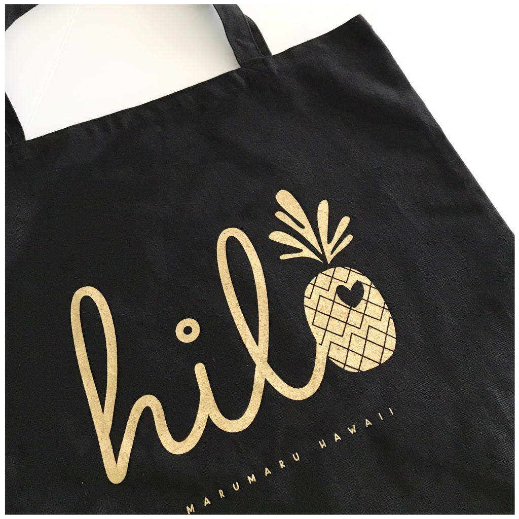 Hilo Pineapple Love Canvas Tote Bag