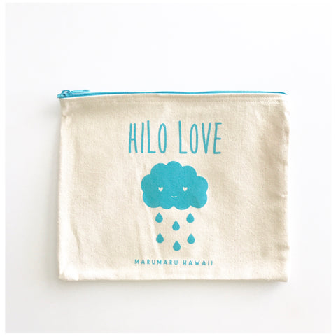 Hilo Love Canvas Zippered Pouch