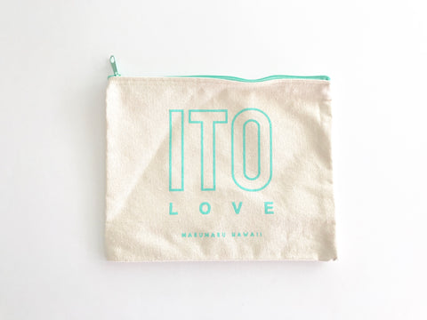 ITO Love Canvas Zippered Pouch