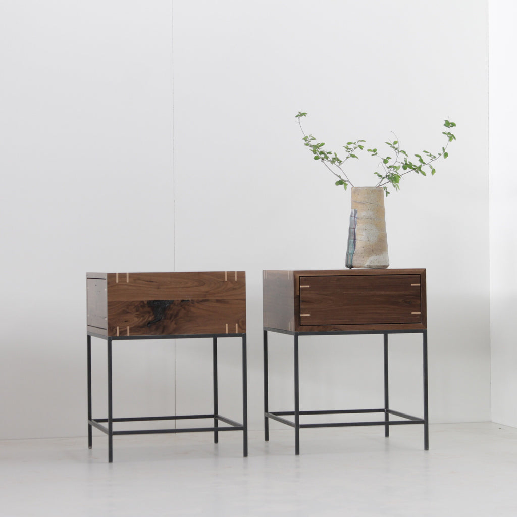 Walnut Myers End Tables - Pair - kith&kin makers