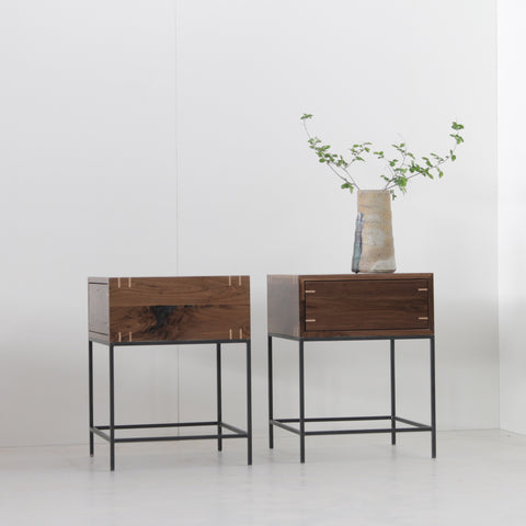 Walnut Myers End Tables - Pair