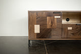 Patchwork Walnut Credenza w/ Fairmont Hairpin Feet and Maple accents - kith&kin makers  - 5
