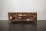 Patchwork Walnut Credenza w/ Fairmont Hairpin Feet and Maple accents - kith&kin makers  - 3