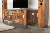 Patchwork Walnut Credenza w/ Fairmont Hairpin Feet and Maple accents - kith&kin makers  - 8