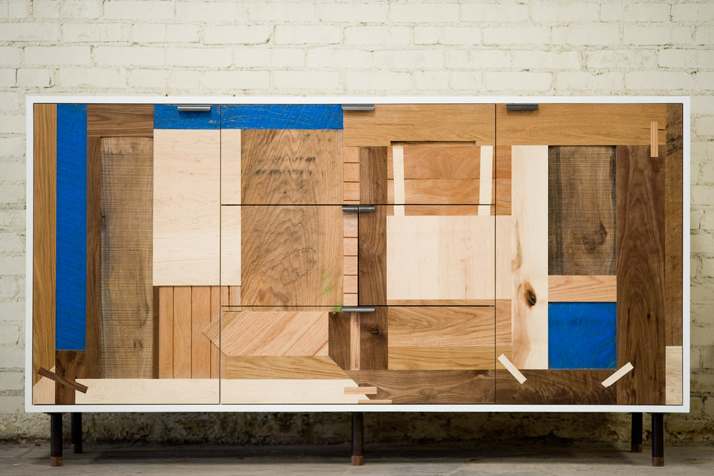 Patchwork Credenza - Mixed Species - kith&kin makers  - 1