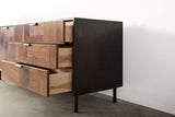 Modern Patchwork Walnut and Steel Credenza - kith&kin makers  - 4