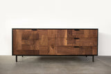 Modern Patchwork Walnut and Steel Credenza - kith&kin makers  - 3