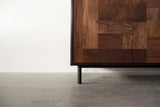 Modern Patchwork Walnut and Steel Credenza - kith&kin makers  - 13