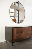 Modern Patchwork Walnut and Steel Credenza - kith&kin makers  - 2