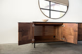Modern Patchwork Walnut and Steel Credenza - kith&kin makers  - 6