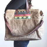 Waxed Canvas Diaper Bag - Wheat Tan - kith&kin makers  - 1