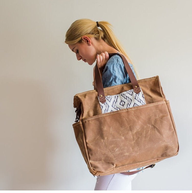 Zip Top Cargo Bag - Soft Brown