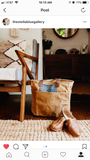 Waxed Canvas Market Tote bag - Soft Brown