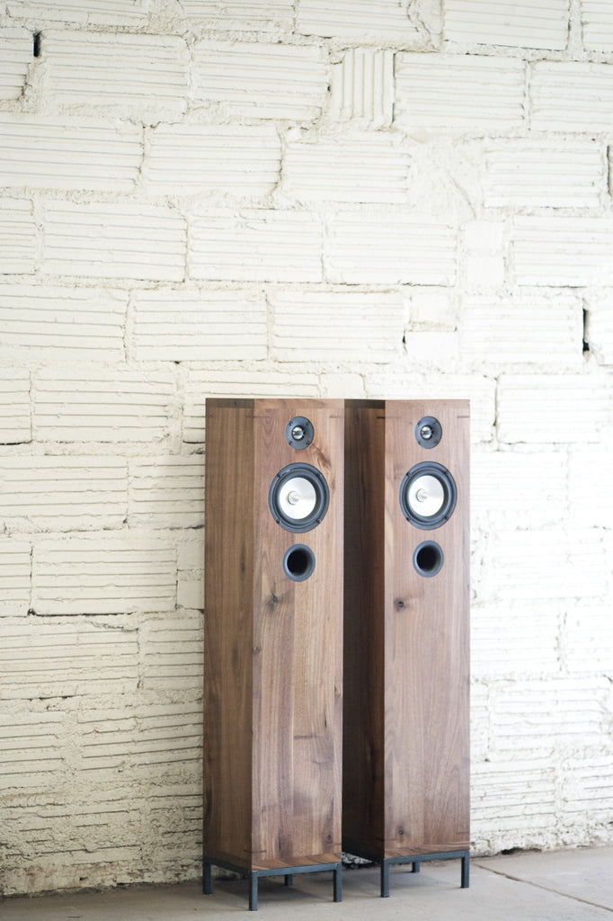 Walnut Floor Standing Speakers - kith&kin makers  - 1